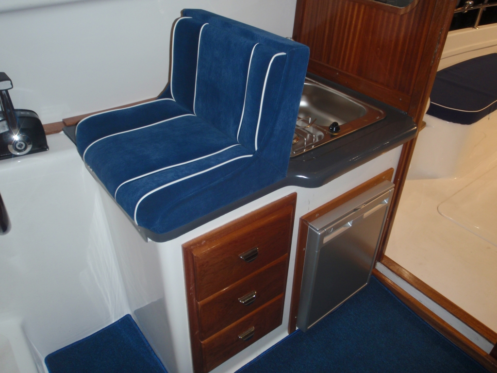 Tacar Mini Trawler kitchen area