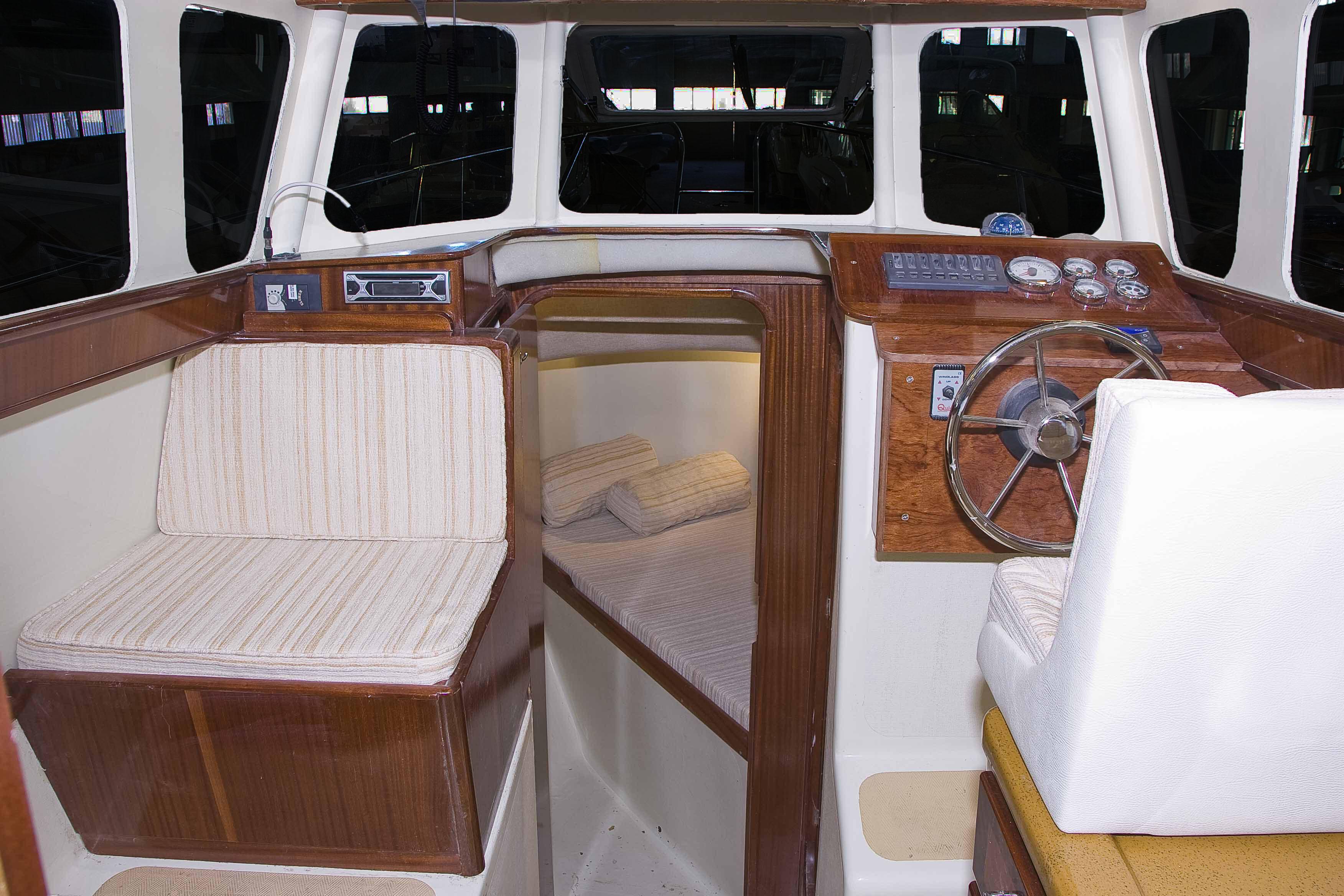 Tacar Mini Trawler interior cabin