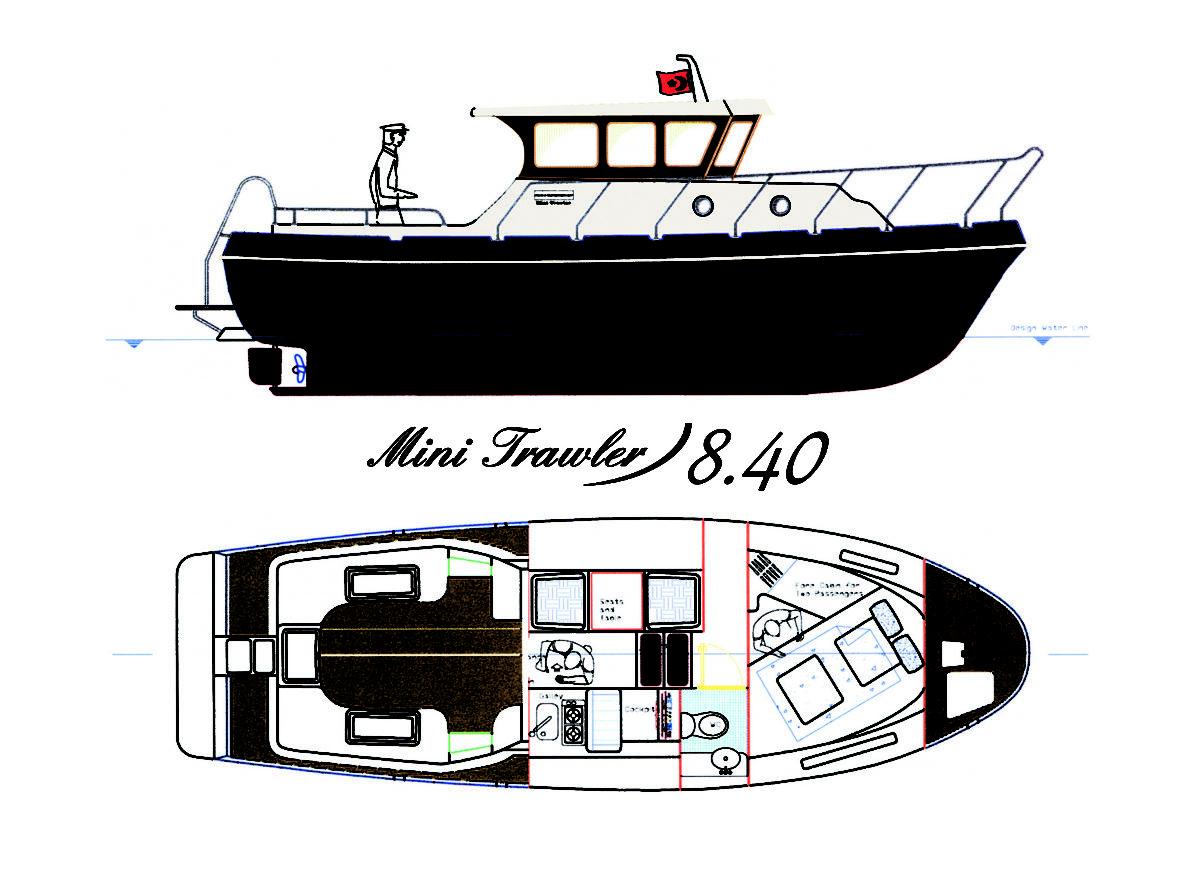 Tacar Mini Trawler GA plan